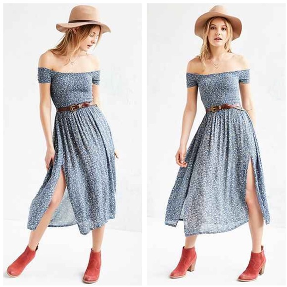 a93022bdfa79 UO Kimchi Blue Picnic Smocked Off Shoulder Dress. M 5a7c7a20a44dbed46ffce03b